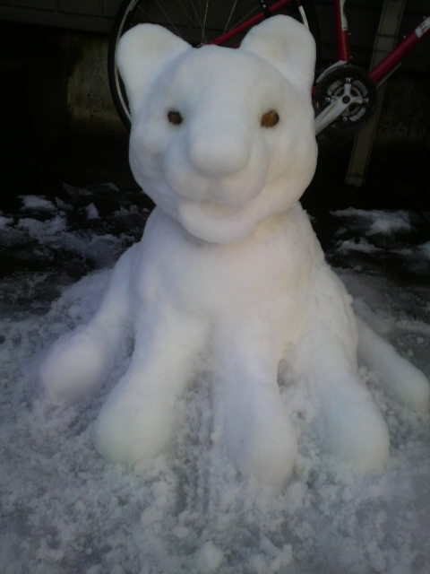 雪だるま?!