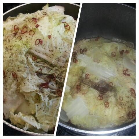 白菜と豚バラ